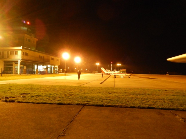 Apron at night