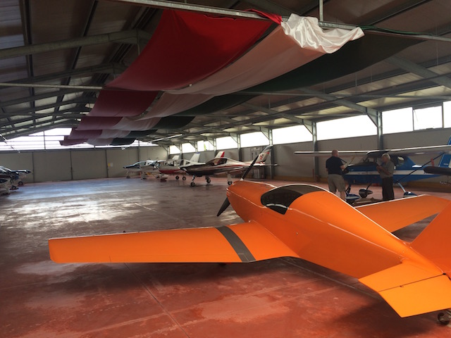 Tour of the hangar